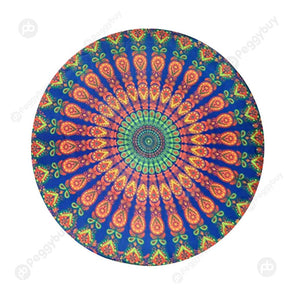 140 X 140cm Round Meditation Wall Tapestry Carpet Beach Yoga Mat (10)