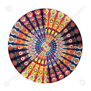 140 X 140cm Round Meditation Wall Tapestry Carpet Beach Yoga Mat (12)
