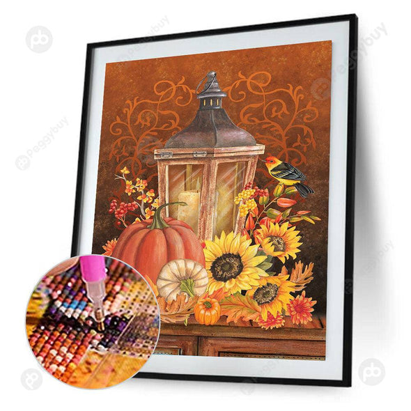 30*40CM Round Drill Diamond Painting-Candlelight