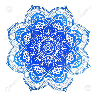 Round Mandala Portable Beach Towel Yoga Mat Hanging Wall Tapestry Decor