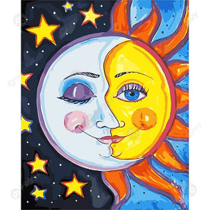 40*50CM Paint By Numbers-Sun And Moon