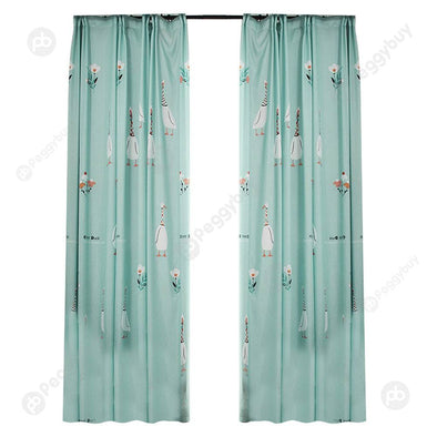 Brushed Blackout Curtain Blind Panel Fabric Shading Drapes (Duck 1.4x2.6m)