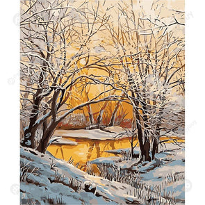 40*50CM Paint By Numbers-Snowscape