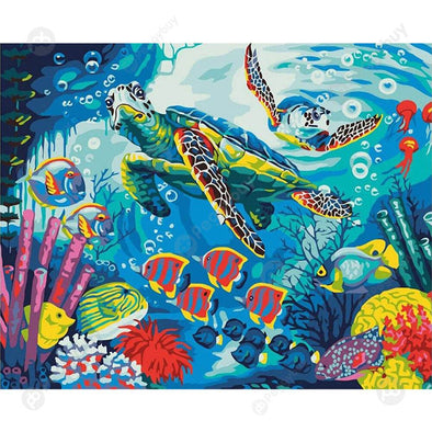 40*50CM Paint By Numbers-Sea Turtle