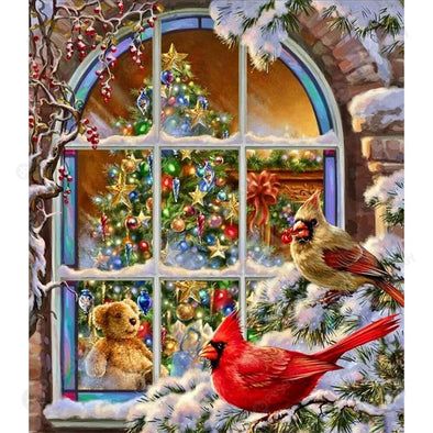 40*50CM Paint By Numbers-Christmas Windows