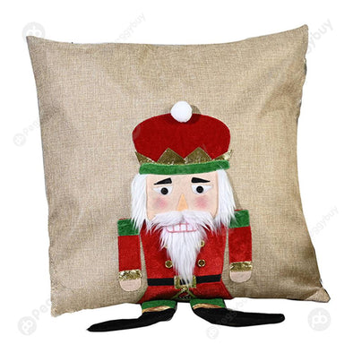 Christmas Pillowcase Santa Claus Square Pillowslip for Festival Home Layout