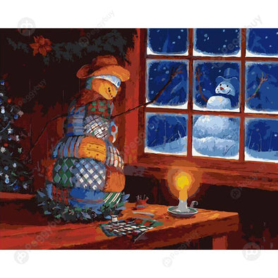 40*50CM Paint By Numbers-Xmas Snowman