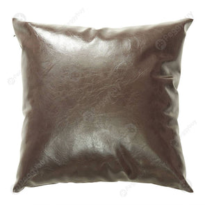 Luxurious Pillowcase Modern Faux Leather Pillow Covers Sofa Decor (45x45cm)