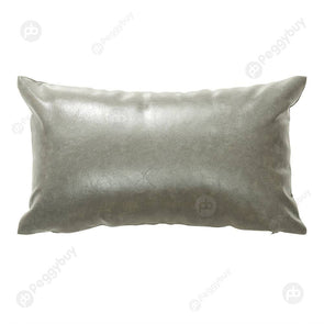 Luxurious Pillowcase Modern Faux Leather Pillow Covers Sofa Decor (30x50cm)