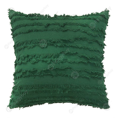 45x45cm Nordic Pillowcase Cotton Pillowslip Sofa Cushion Cover (Green)