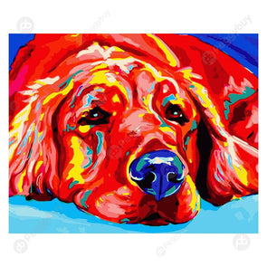 40*50CM Paint By Numbers-Relaxed Dog