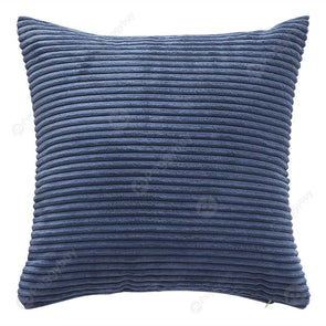 Solid Square Pillow Case Sofa Cushion Cover Corn Bar Pillowslip (Navy Blue)