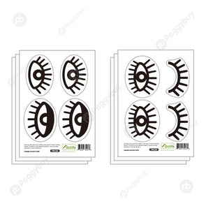 6pcs/set Wall Sticker DIY Vinyl Wall Decals Waterproof Door Murals (Eyes)
