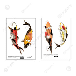 6pcs/set Wall Sticker DIY Vinyl Wall Decals Waterproof Door Murals (Fish)