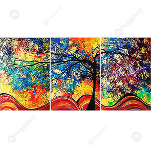 95*45CM Multi-picture Diamond Painting-Colorful Tree
