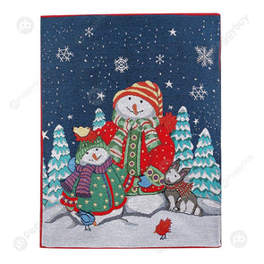 50x60cm Retro Christmas Chair Cover Festival Stool Cover Home Decor (D)
