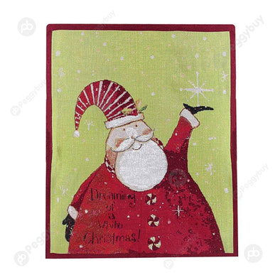 Retro Christmas Chair Cover Chair Back Cover Festival Decor for Dinner (A)