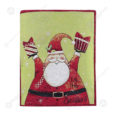 Retro Christmas Chair Cover Chair Back Cover Festival Decor for Dinner (B)