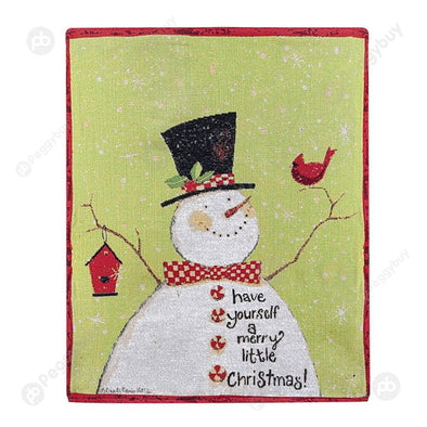 Retro Christmas Chair Cover Chair Back Cover Festival Decor for Dinner (C)