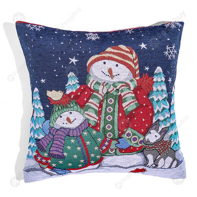 Christmas Pillow Case Festival Pillowslip Xmas Ornaments Home Decor (D)