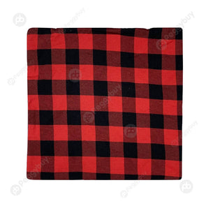 Checked Cloth Christmas Pillow Case Xmas Decors Sofa Cushion Cover (Red)