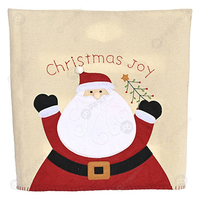Christmas Chair Cover Embroidery Non-woven Stool Back Sleeve (Santa Claus)