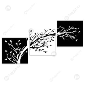 3 Panels Branch Canvas Painting Poster Wall Art Picture Living Room Decor