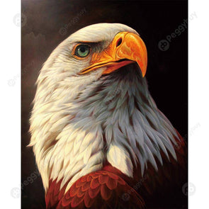 25*30CM Round Drill Diamond Painting-White Eagle