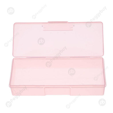 Nail Supplies Tools Storage Box Can Be Mounted Push Sand Bars (Pink)