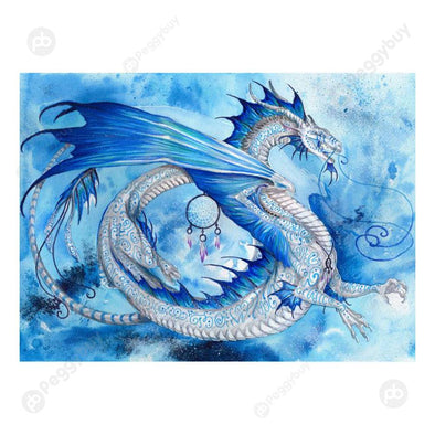 40*30CM Round Drill Diamond Painting-Dragons