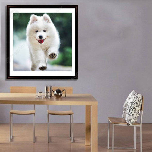 25*25CM Round Drill Diamond Painting-Dogs