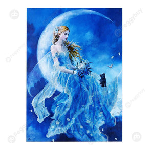 30*40CM Round Drill Diamond Painting-Moon Goddess
