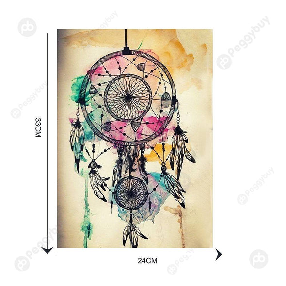 30*40CM Round Drill Diamond Painting-Dreamcatcher