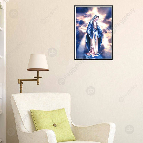 40*30CM Round Drill Diamond Painting-Angel