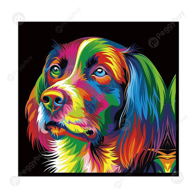 30*30CM Round Drill Diamond Painting-Dog