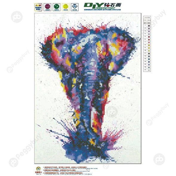 30*40CM Special Shaped Diamond Painting-Elephant Crystal