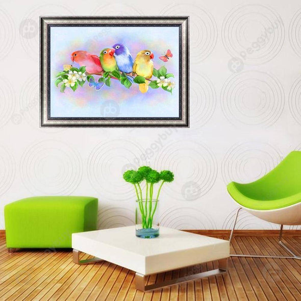 40*30CM Special Shaped Diamond Painting-Birds