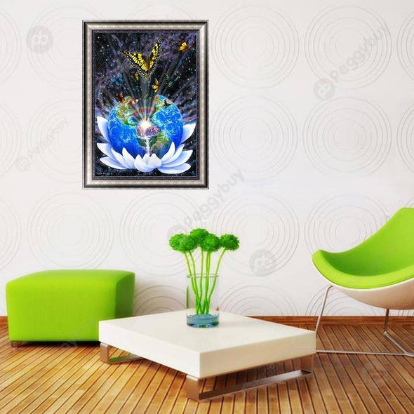 30*40CM Special Shaped Diamond Painting-Global Butterfly