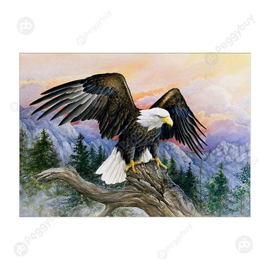 40*30CM Special Shaped Diamond Painting-Eagle