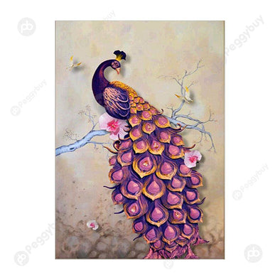 30*40CM Special Shaped Diamond Painting-Peacock