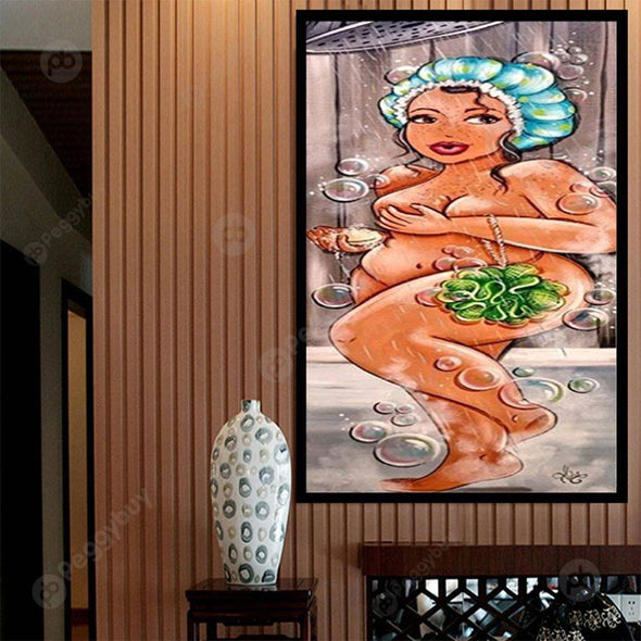 20*50CM Special Shaped Diamond Painting-Fat Lady