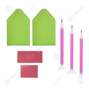 DIY Diamond Painting Tool Cross Stitch Tray Pen Mud Sewing Accessories Kit