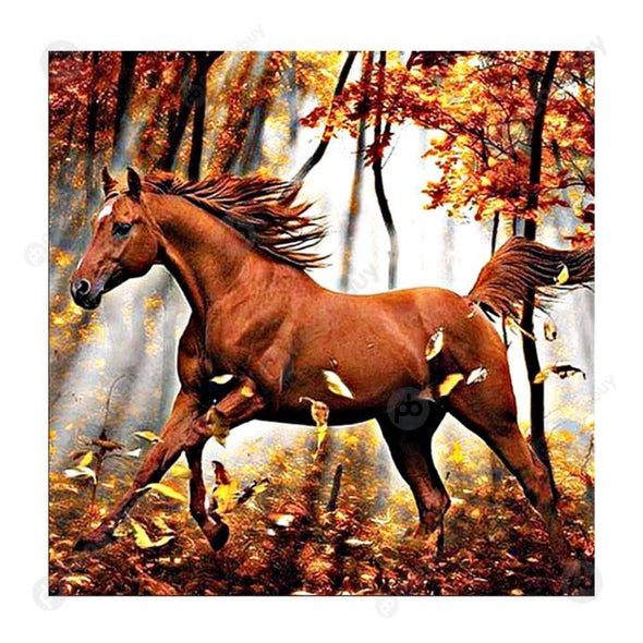 30*30CM Round Drill Diamond Painting-Horse