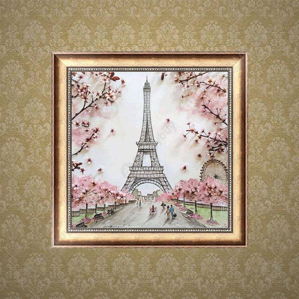 30*30CM Round Drill Diamond Painting-Landscape