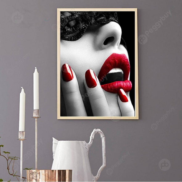 40*30CM Special Shaped Diamond Painting-Beauty Face