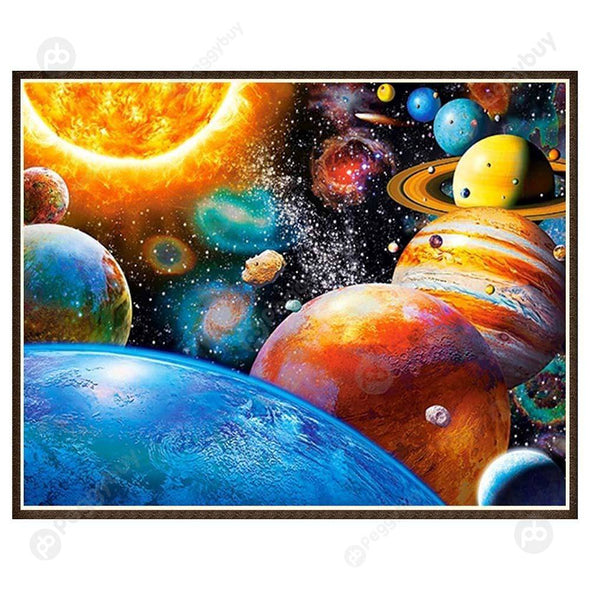 30*25CM Round Drill Diamond Painting-Space