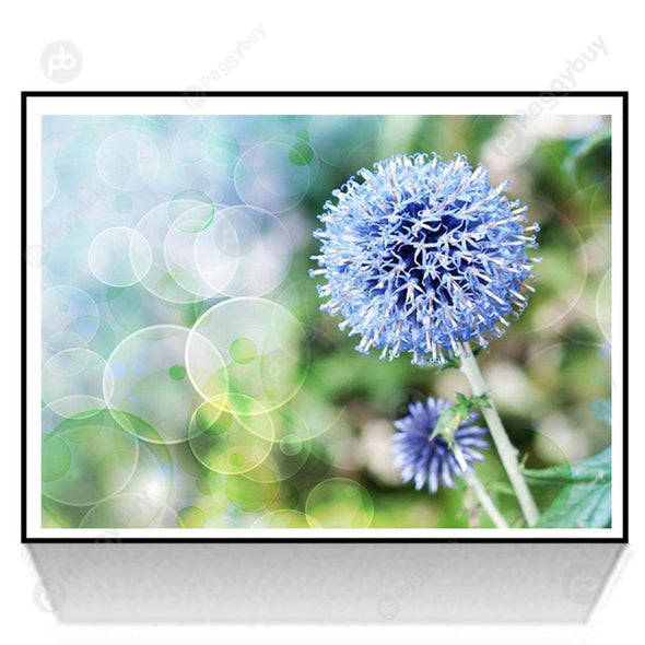 30*35CM Round Drill Diamond Painting-Dandelion