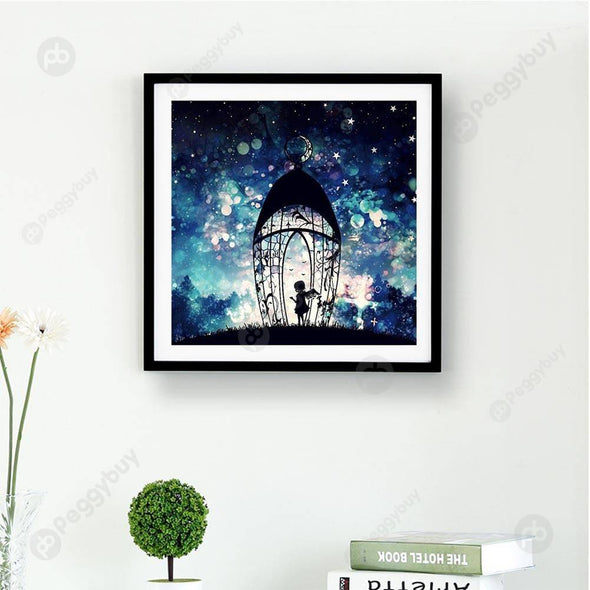 30*30CM Round Drill Diamond Painting-Dreamlike