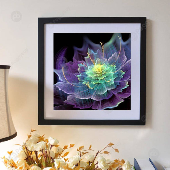 30*30CM Special Shaped Diamond Painting-Purple Flower