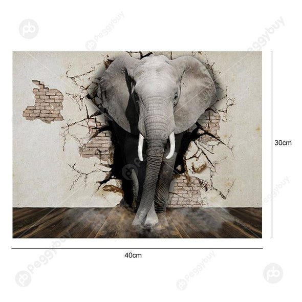 40*30CM Special Shaped Diamond Painting-Elephant